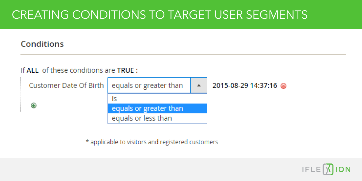 Creating Conditions to Target User Segments