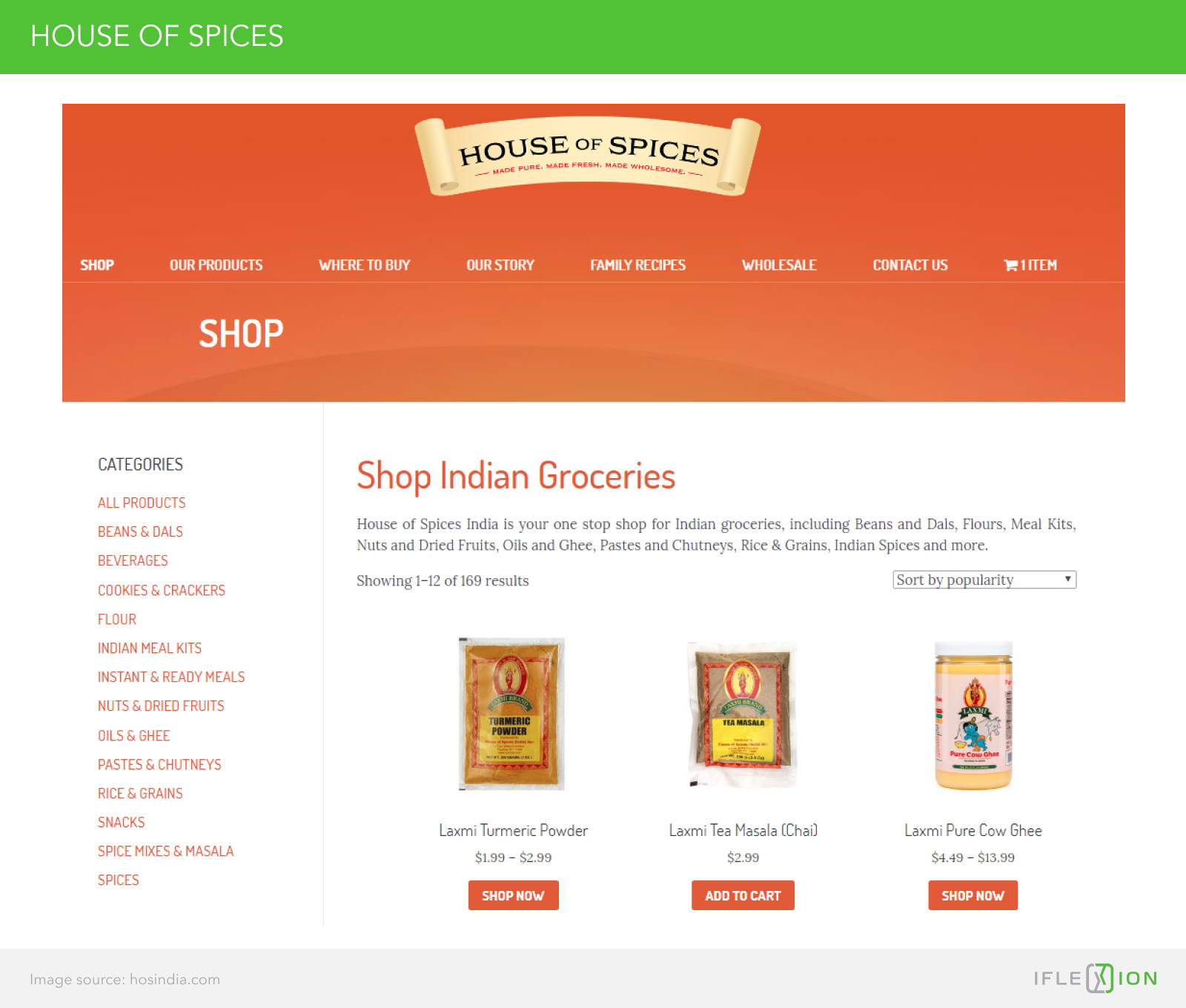 The blog and product catalog of the House of Spices