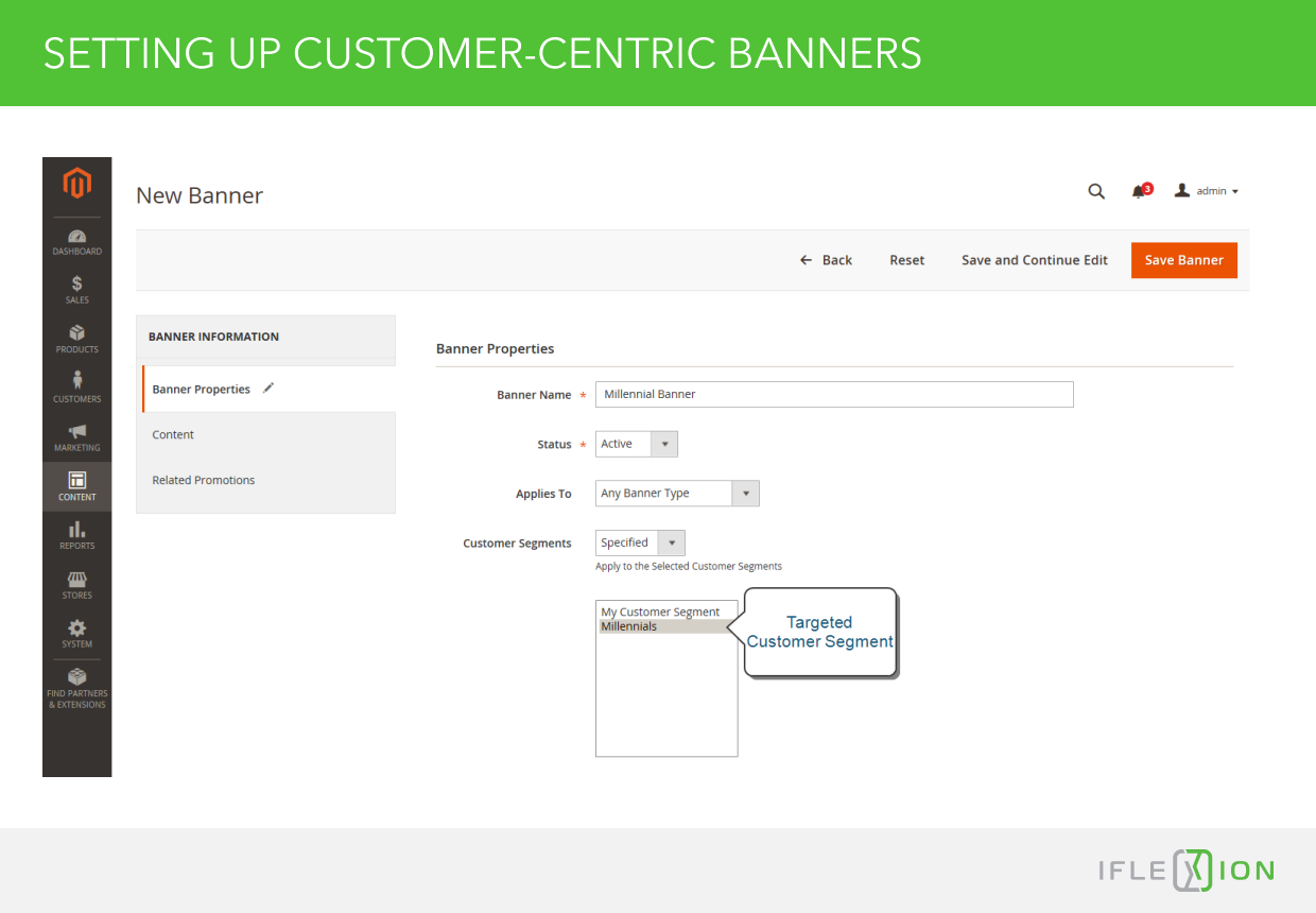 Setting up Customer-Centric Banners