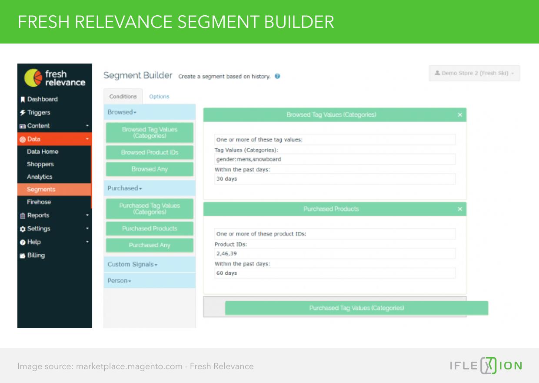 Fresh Relevance Segment Builder