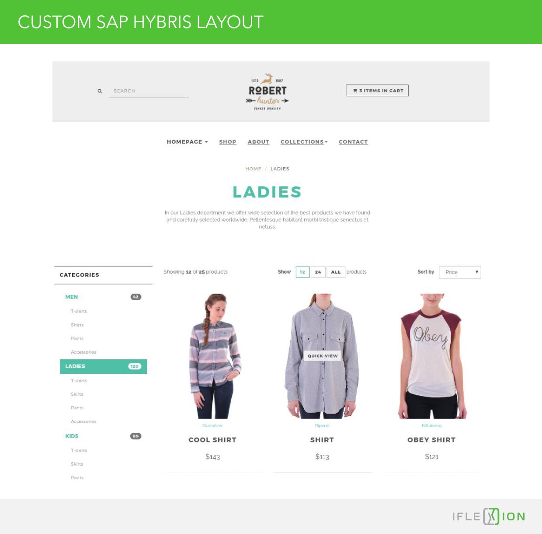 Custom SAP Hybris Layout