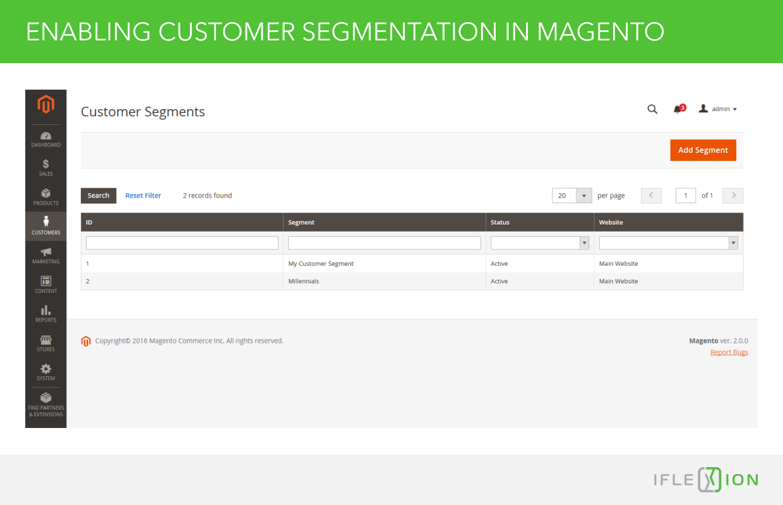 Enabling Customer Segmentation in Magento
