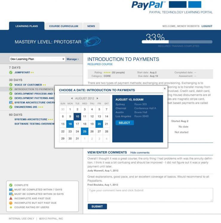 Education Portal Development for PayPal